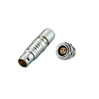 REUNION B Series - Metal Circular Male Female For Automotive Push Pull Connectors,Circular Self-latching Metal Couplers