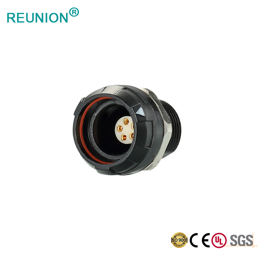 P Series PCB Type Female Receptacle Circular Connector 16pins