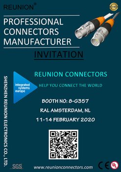 REUNION Connectors will attend ISE 2020