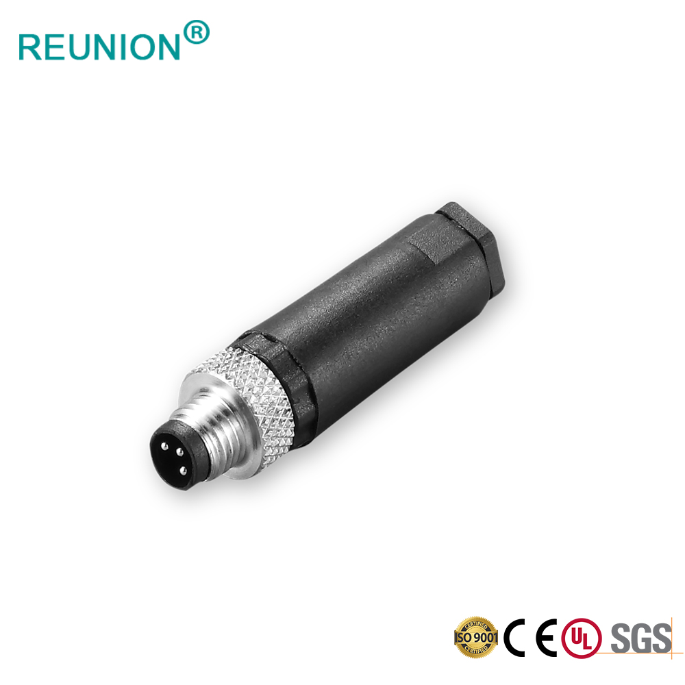 Assembled types M8 waterproof circular connector
