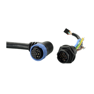 Customizable electric bicycle connectors battery connector and cable assembly