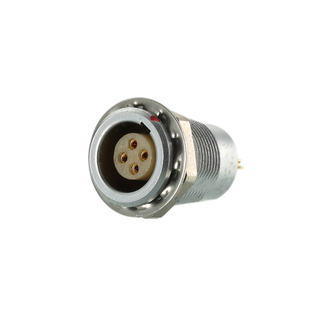 Self-latching metal female socket power connector 14pins