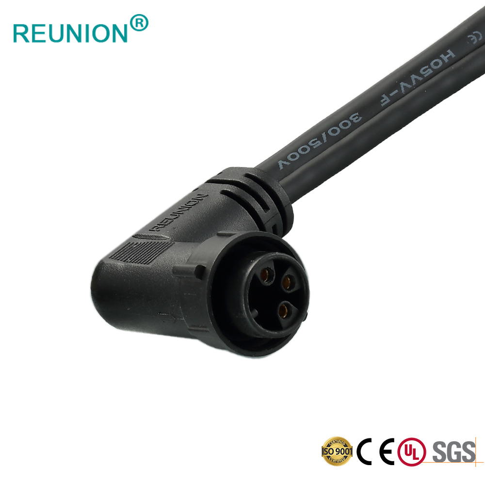 Shenzhen Factory supplier 1M series screw connector with wire terminal IP67 waterproof outdoor application