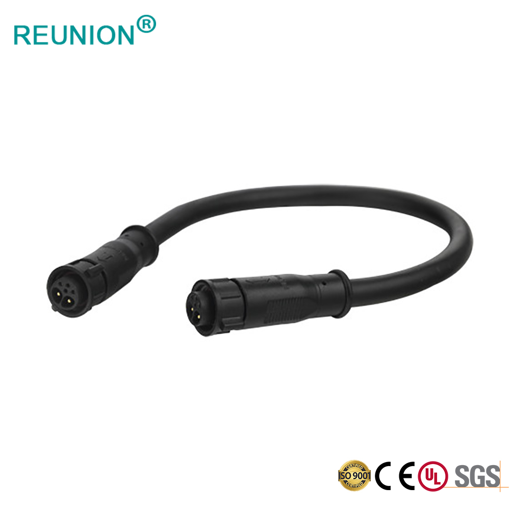 Waterproof IP67 Outdoor Application Solder Wire To Wire Connector with Pvc Cable Overmolding