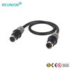 Mini multipole female male waterproof wire to wire F series connector