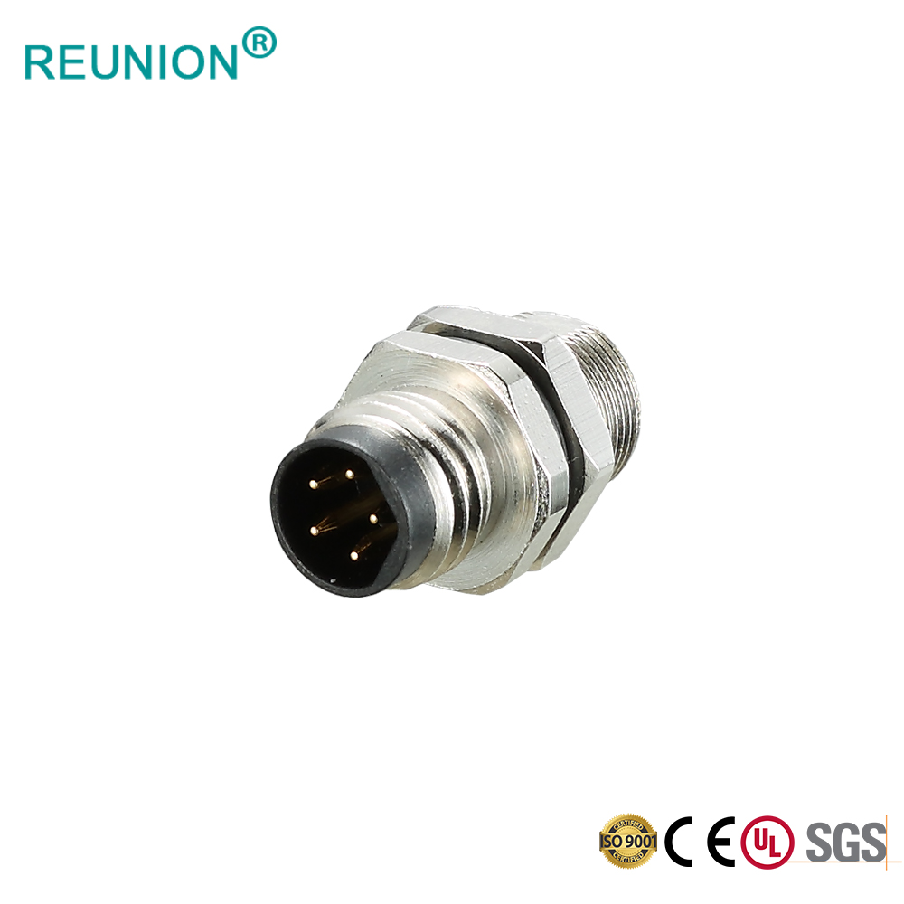 M12 Connector Cable Assembly Plug & Socket