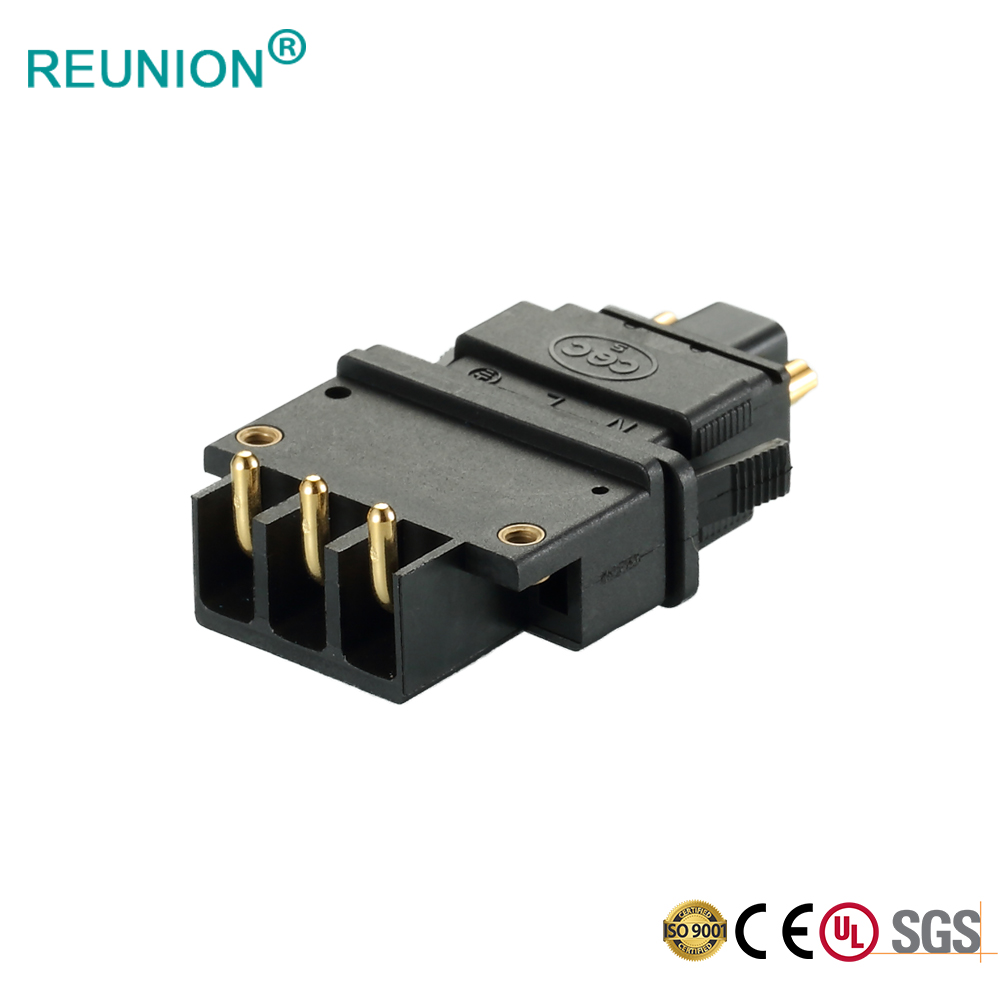 Custom 3Pins 5Pins Male Connector with Flat Cable Assembly Push in Female Receptacle with Cable Assembly