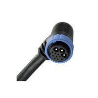 Male And Female Hybrid 3+9 Waterproof IP68 Connector Blue Nut Cable Connector Plug Socket